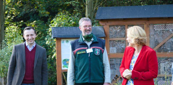 Besuch der Waldschule MK von der Bundesministerin für Ernährung und Landwirtschaft Julia Klöckner